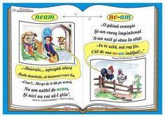 "Plansa Ortograma ""n-ati"" / cuvintele ""nu"" si ""ati"" Romanian Language, Class Decoration, Coloring Pages, Christmas Crafts, Classroom, Teaching, Baseball Cards, Education, Math"