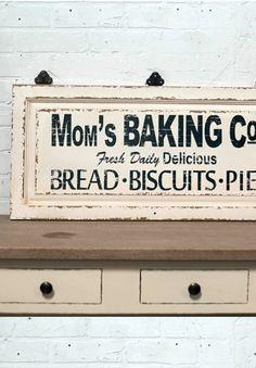 Baking Sign, Vintage Bakery Sign, Antique Signage