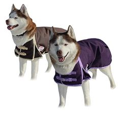 Derby Originals 1200D Heavy Duty Waterproof Dog Coat with 2 year limited warranty, Chocolate, Large