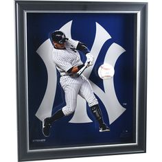 Alex Rodriguez Pop Out 20x24 Shadowbox with Signed Official MLB Baseball