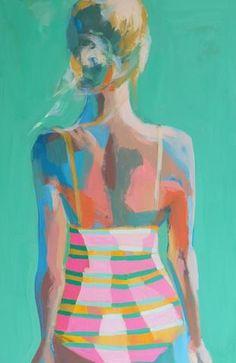 Teil Duncan - Looking back - acrylic painting Figure Painting, Painting & Drawing, Painting Inspiration, Art Inspo, Guache, Figurative Art, Modern Art, Pop Art, Art Projects