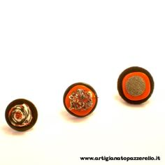 anelli bottone in stoffa Cufflinks, Stud Earrings, Accessories, Jewelry, Fabrics, Jewlery, Jewerly, Stud Earring, Schmuck