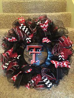 Texas Tech Game day wreath