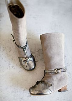 Little Girls suede boot & t-strap in one - so clever! #miajoy new for Fall