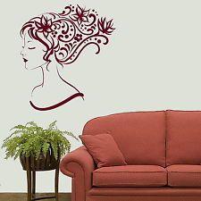 Elegant Woman Wall Sticker / Decal Art Transfer / Vinyl Graphic Stencil Big X81