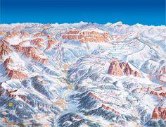 Val Gardena Ski Trail Map - Val Gardena 39040 Kastelruth Bolzano Trentino-Alto Adige-Suumldtirol Italy • mappery