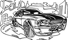 Race Car Classic Coloring Page - Race Car car coloring pages