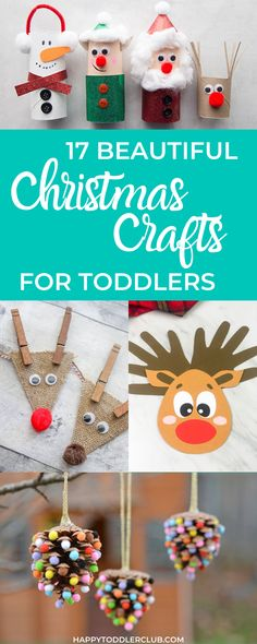 17 Beautiful Toddler Christmas Crafts - Easy DIY Christmas crafts for kids to m. 17 Beautiful Toddler Christmas Crafts – Easy DIY Christmas crafts for kids to make! Diy Felt Christmas Tree, Christmas Crafts To Make, Toddler Christmas, Christmas Ideas, Christmas Parties, Christmas Paper, Xmas, Christmas Activities For Toddlers, Winter Crafts For Toddlers