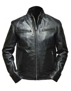Fast And Furious Vin Diesel Black Leather Jacket