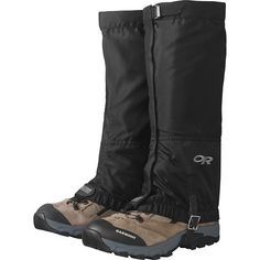 Made of water-resistant, breathable packcloth, Outdoor Research Women's Rocky Mountain High Gaiters offer full-length protection from mud, snow and debris. Ideal for hiking, backpacking or winter activities. Hiking Gear, Hiking Shoes, Camping Gear, Hiking Clothes, Camping Outfits, Nylons, Trekking Outfit, Cold Weather Gear, Weather Snow