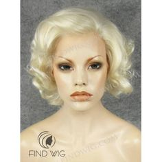 Curly Blonde Short Wig. Marilyn Monroe Style Wig. Online Wigs Store
