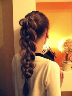 funky braided ponytail hairstyle   Hairstyles and Beauty Tips