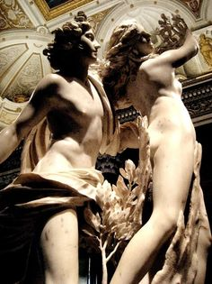 Apollo and Daphne by Gianlorenzo Bernini.  Bernini sculpture is so unbelievable - the greatness of the Baroque period along with Caravaggio painting.  Marble made so supple, it's like butter.  Absolutely incredible.