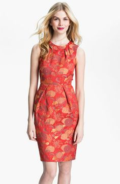 Carmen Marc Valvo Jacquard Sheath Dress | Nordstrom  http://shop.nordstrom.com/S/carmen-marc-valvo-jacquard-sheath-dress/3378532?origin=category=0==0