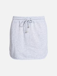 Sweatshirt skirt with pockets in the sides and wide elastic waistband. Soft fleece lining. B A L A N C E. Vaaleanharmaa