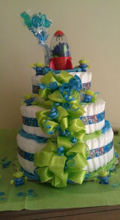 Alien Toy Story diaper cake! So much fun!