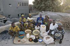 Mali: The Natomos of Kouakourou - Food expenditure for one week: 17,670 francs or $26.39. Family Recipe: Natomo Family Rice Dish.