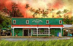 Kalapawai Market Kailua Colorful Pictures, Beautiful Pictures, Kailua Hawaii, Wall Prints, Canvas Prints, Corel Painter, Wall Canvas, Sunrise, Marketing