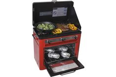 Outdoor Camp Oven with Grill - $322.92 // not being at home is no excuse for not cooking a gourmet meal with this bad boy