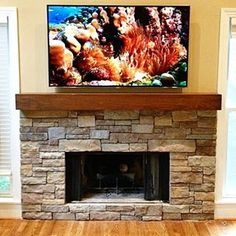 Box beam mantel. Light brown stain with black glaze. This was sold in our Etsy.com store.  Standard sizes and custom sizes available.  #custommantels #customcornersllc #customcorners #fireplacemantel #stonefireplace #mantelpiece #mantel #mantle #mantlepiece #rusticmantel #rusticmantle #rusticmantles #modernmantel #boxmantel #beammantle #beammantel #fireplaces #fireplaceidea #fireplaceideas #stackedstonefireplace