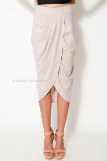 Tiara Mae Skirt - Light Taupe