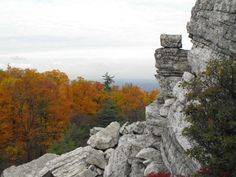 Mohonk Preserve - Bonticou Crag Hike. Travel from open fields through the woods and hike to the top of a prominent, stark-white crag overlooking the valley. (Optional, challenging rock scramble up.)