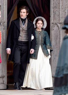 Victoria itv series 2 bts- Jenna Coleman, Tom Hughes