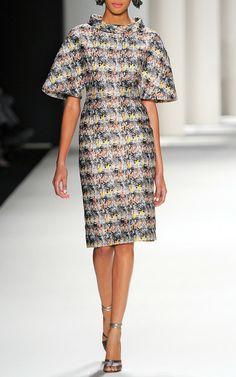 Marble Jacquard Dress by Carolina Herrera for Preorder on Moda Operandi