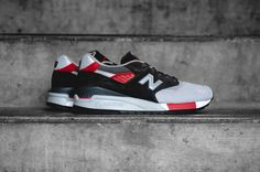 "New Balance 998 ""Black/Grey-Red"" http://SneakersCartel.com #sneakers #shoes #kicks #jordan #lebron #nba #nike #adidas #reebok #airjordan #sneakerhead #fashion #sneakerscartel"