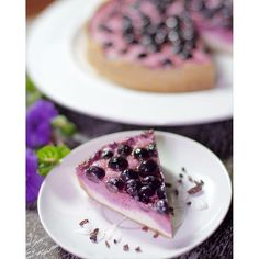 Raw macadamia blueberry cheesecake. Decadent, tart and tangy with a gram-cracker crispy crust. www.purejoyplanet.com