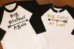 Big Sister Shirt, Big Brother Again, Big Sister At Last, Big Sister Shirts, Big sister shirt, Big Sister Big brother shirt set. Big Brother,