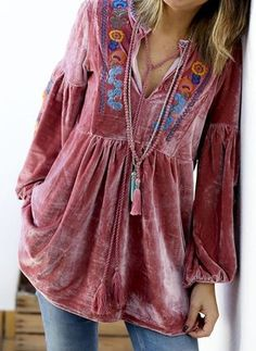 Shop Floryday for affordable XXL XL Blouses. Floryday offers latest ladies' XXL XL Blouses collections to fit every occasion. Latest Fashion For Women, Womens Fashion, Fashion Online, Fashion Outfits, Fashion Trends, Fashion Blouses, Long Blouse, Blouse Vintage, Outfit