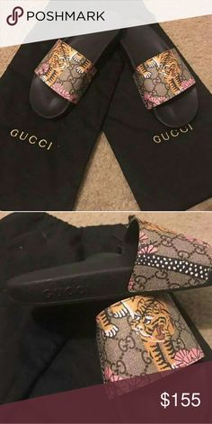 757827ee8 Text 404-602-2558 For Offers And Sizings Supreme Shoes Sneakers. See more. Gucci  Slides Tiger GG 2017 Women & Mens SALE! Brand New Deadstock Womens and Mens
