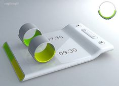 Couples' alarm clock - Put the ring on your finger and it vibrates to wake you and not your partner. Heeel handig!