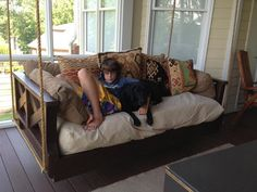 Custom Built Daybed Swings , Hand Built One At A Time