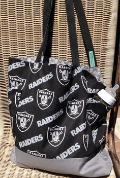 5729d6a3bb6e Oakland Raiders Diaper Bag Custom Tote Bag by designsbyfancyrose Oakland  Raiders Fans