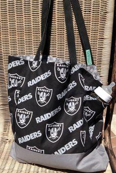 Oakland Raiders Diaper Bag Custom Tote Bag by designsbyfancyrose Raiders  Baby 36f4a298b