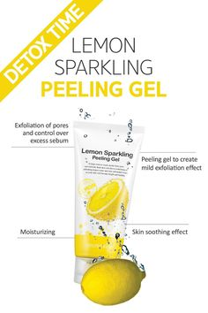 ebbdd2576 Refresh with our Lemon Sparkling Peeling Gel 🍋 Exfoliation, soothing and  moisturising all in