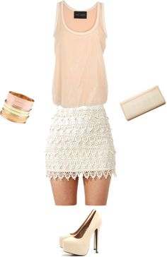 I love this look. Summer Party Outfit, created by cheyenne-sampson on Polyvore