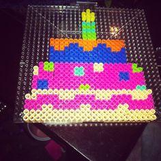 Birthday cake perler beads by clayton_saunders