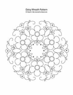 Pattern and instructions for the Daisy Wreath available free, here.