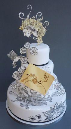 Brandon Boyd art-inspired cake