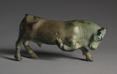 Pawing Bull. 500-475 BCE. bronze South Italy, Lucania. Greek.