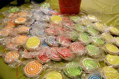 Carnival Lollipop Cookies