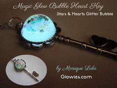 Magic Glow Bubble Stars & Heart Key by MoniqueLula on Etsy, $26.00