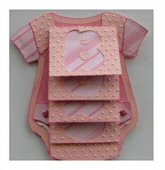Baby Onesie Waterfall Card