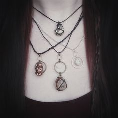 • Nox Ithil Creations •  Handmade necklaces inspired bynature, and a mini hand sculpted Venus figurine.