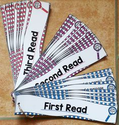 Close Reading Question Fans - I keep these by my desk so I can quickly come up with questions for each read