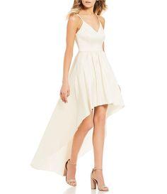 5966588cd B. Darlin Spaghetti-Strap Long High-Low Dress in 2019