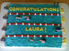 Sweet Custom Treats: Graduation Cake For a Swimmer